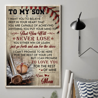 Mom To Son - I Want You Believe Deep In Your Heart - Vertical Matte Posters