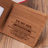Mom To Son - Remember To Be Awesome - Bifold Wallet