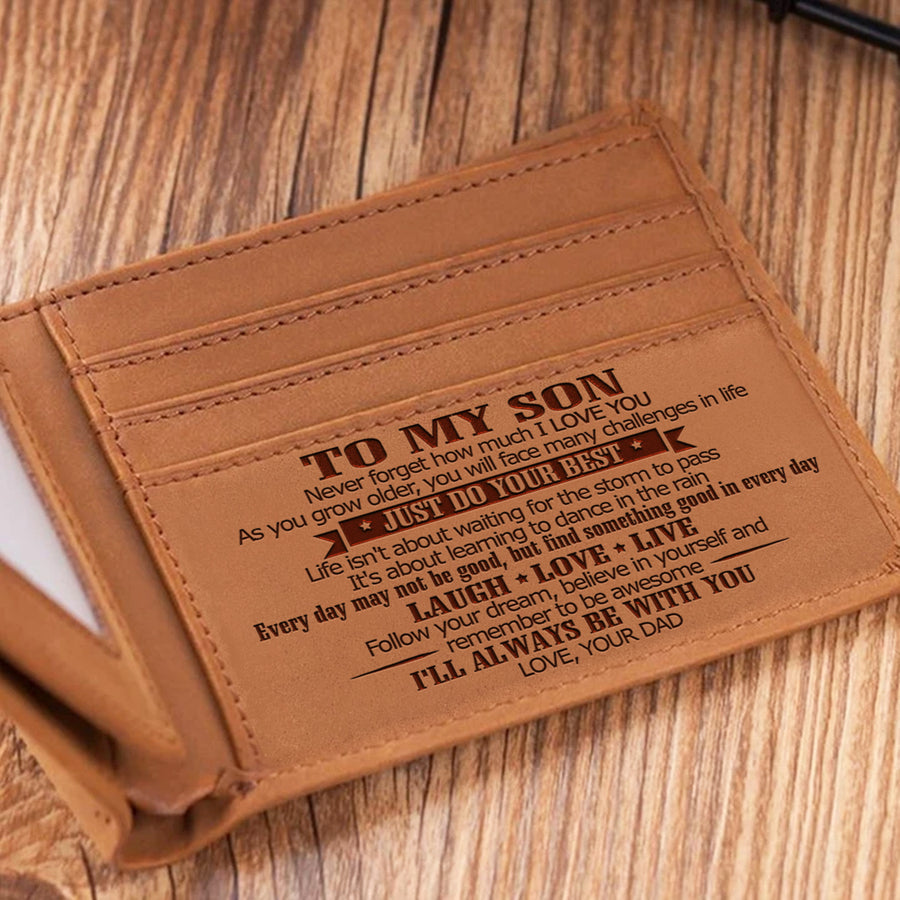 Dad To Son - Remember To Be Awesome - Bifold Wallet