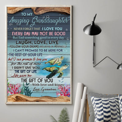 Grandma To Granddaughter - Follow Your Dream - Vertical Matte Posters