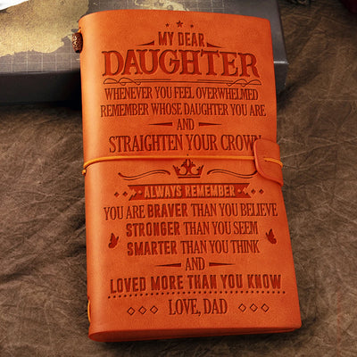 Dad To Daughter -  You Are Braver Than You Believe - Vintage Journal