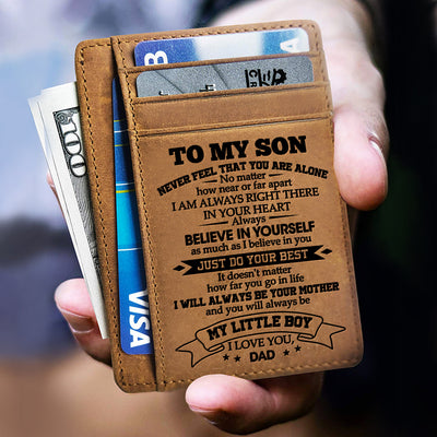 Dad to Son - Just Do Your Best - Card Wallet
