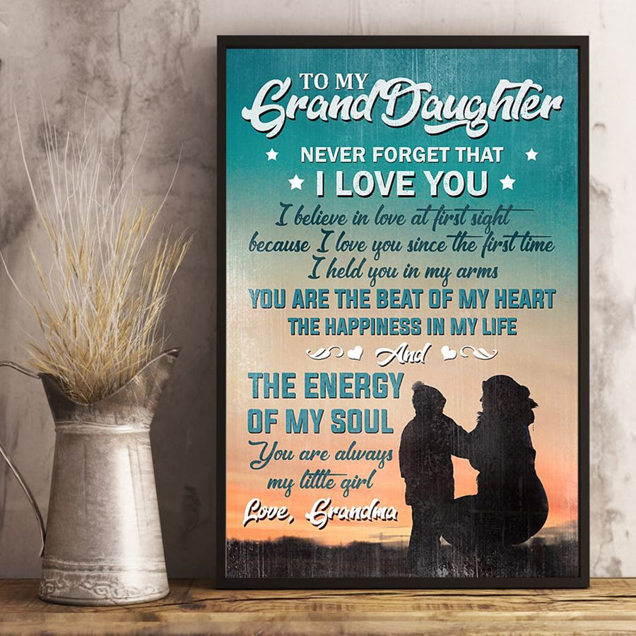 Grandma To Granddaughter - The Happiness In My Life - Vertical Matte Posters