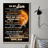 Dad To Son - I'm So Grateful You Are My Son - Vertical Matte Posters