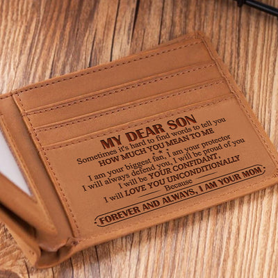 Mom To Son - Forever & Always I Am Your Mom - Bifold Wallet