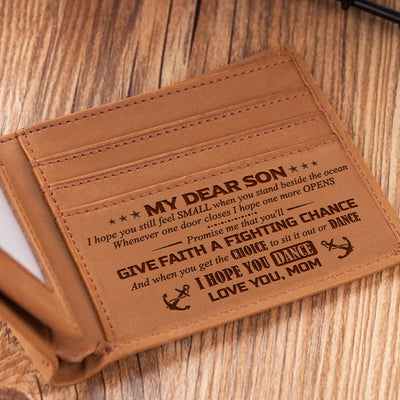 Mom To Son - A Fighting Chance - Bifold Wallet