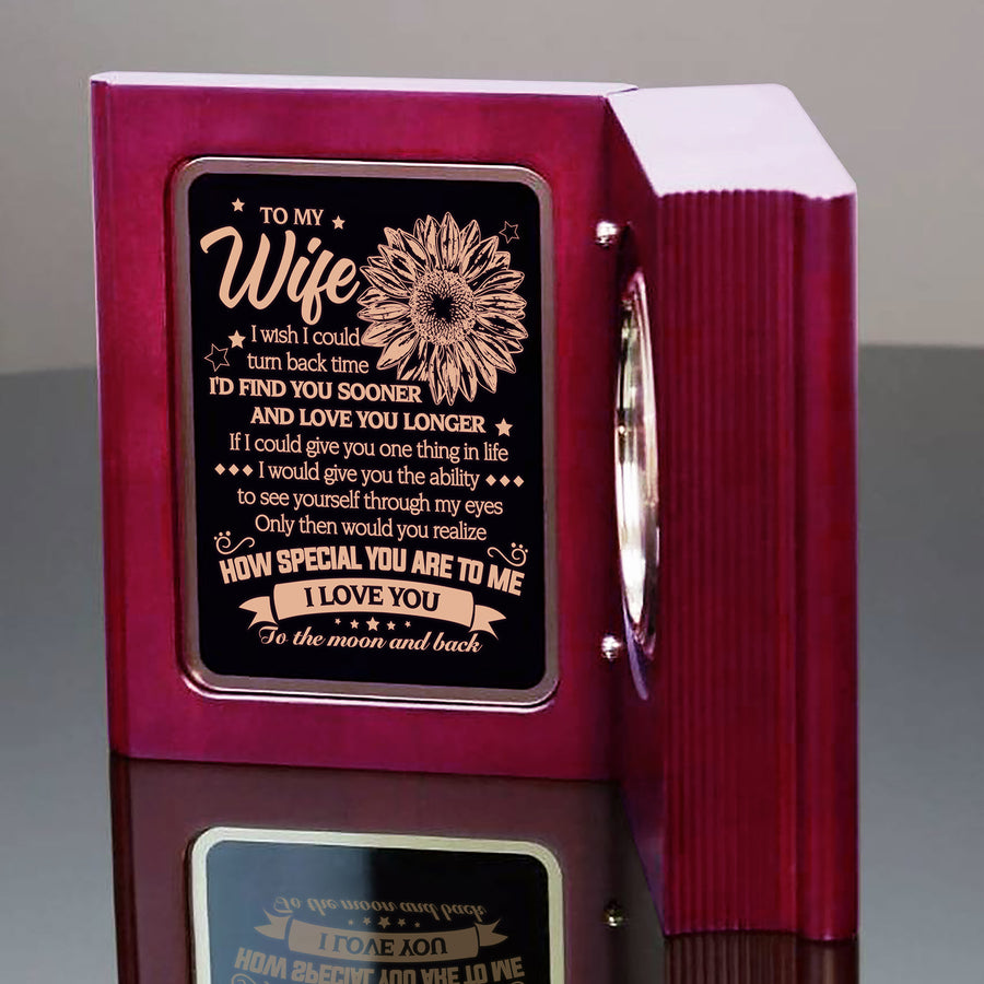 To My Wife - How Special You Are To Me - Wooden Book Clock