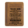 Mom To Son - Life Isn't About Waiting For The Storm To Pass - Card Wallet