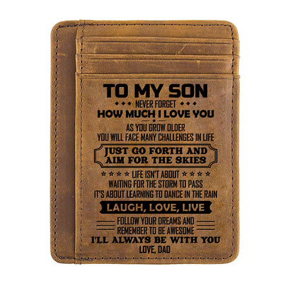 Dad to Son - Life Isn't About Waiting For The Storm To Pass - Card Wallet