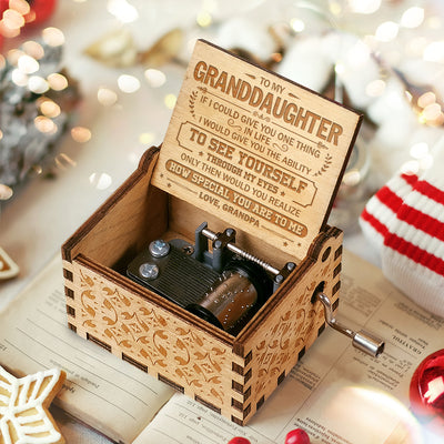 Grandpa To Granddaughter - How Special You Are To Me - Engraved Music Box