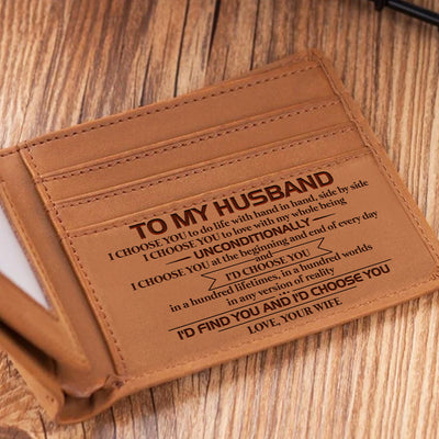 To My Husband - Hand In Hand Side By Side - Bifold Wallet