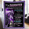 Dad To Daughter Blanket - MY LOVE FOR YOU IS FOREVER -  Fleece Blanket for Daughter From Dad, Best Gift for Birthday, Christmas