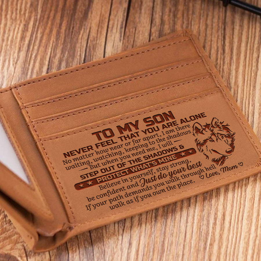 Mom To Son - Walk As If You Own The Place - Bifold Wallet