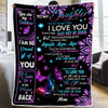 Mom To Daughter Blanket - NEVER FORGET THAT I LOVE YOU -  Fleece Blanket for Daughter From Mom, Best Gift for Birthday, Christmas