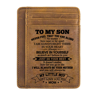 Mom to Son - Just Do Your Best - Card Wallet