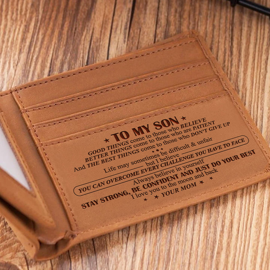 Mom To Son - I Believe You Can - Bifold Wallet