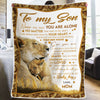 Mother To Son Blanket - NEVER FEEL THAT YOU ARE ALONE - Blanket for Son From Mother, Best Gift for Birthday, Christmas
