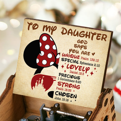 To My Daughter - God Says You Are Special - Music Box Color