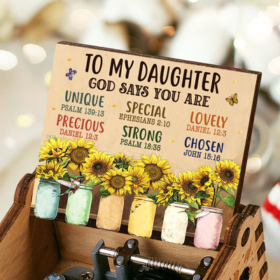 To My Daughter - God Says You Are - Music Box Color
