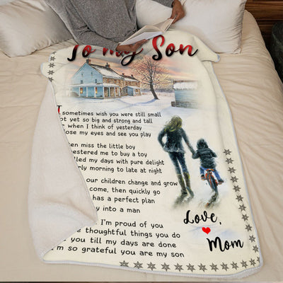 Mom to Son - I'm Proud Of You - Blanket