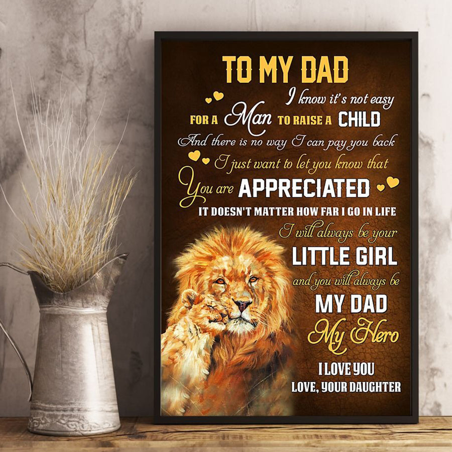 Daughter To Dad - I Know It's Not Easy - Vertical Matte Posters