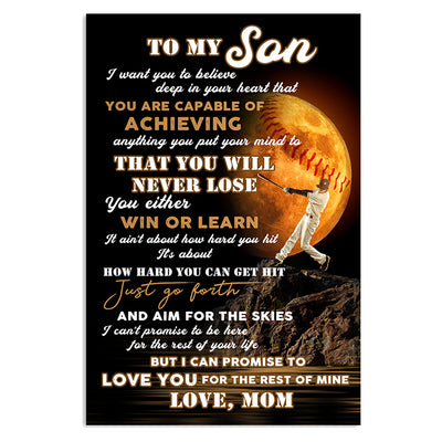 Mom To Son - You Will Never Lose - Vertical Matte Posters