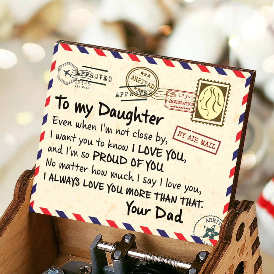 Dad To Daughter - I'm So Proud Of You - Colorful Music Box