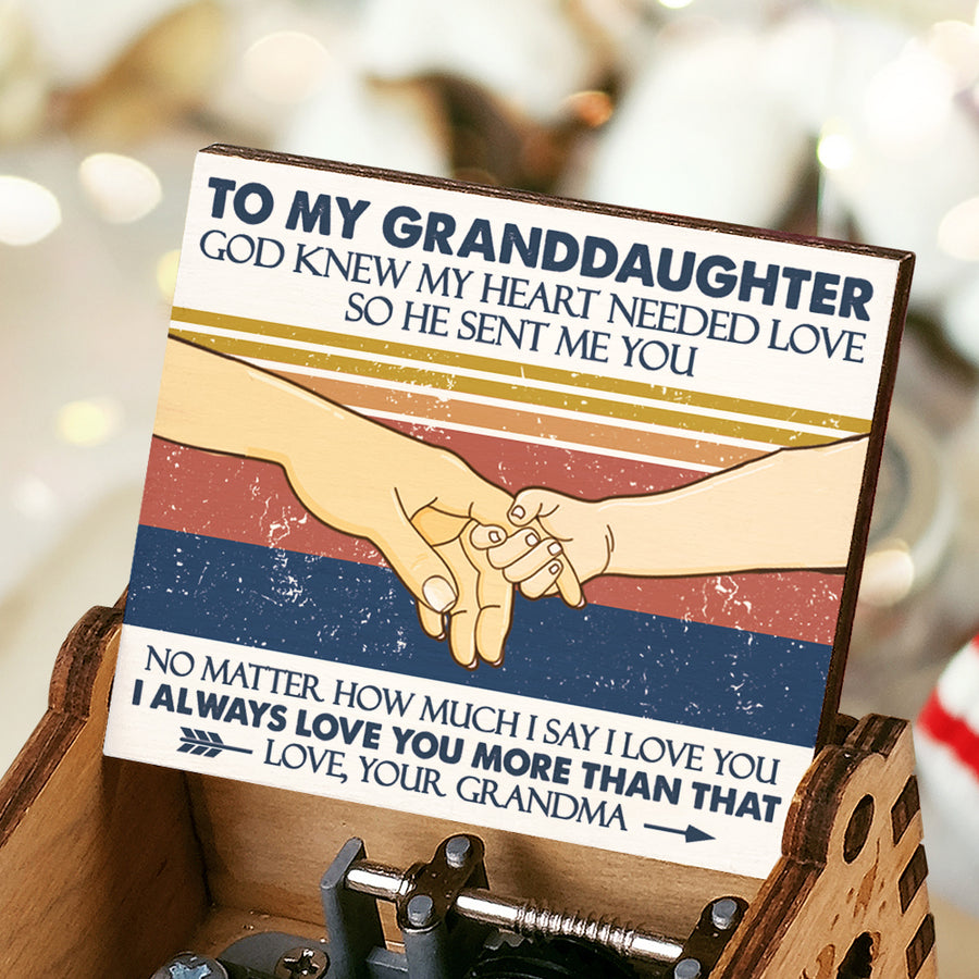 Grandma To Granddaughter - My Heart Needed Love - Colorful Music Box