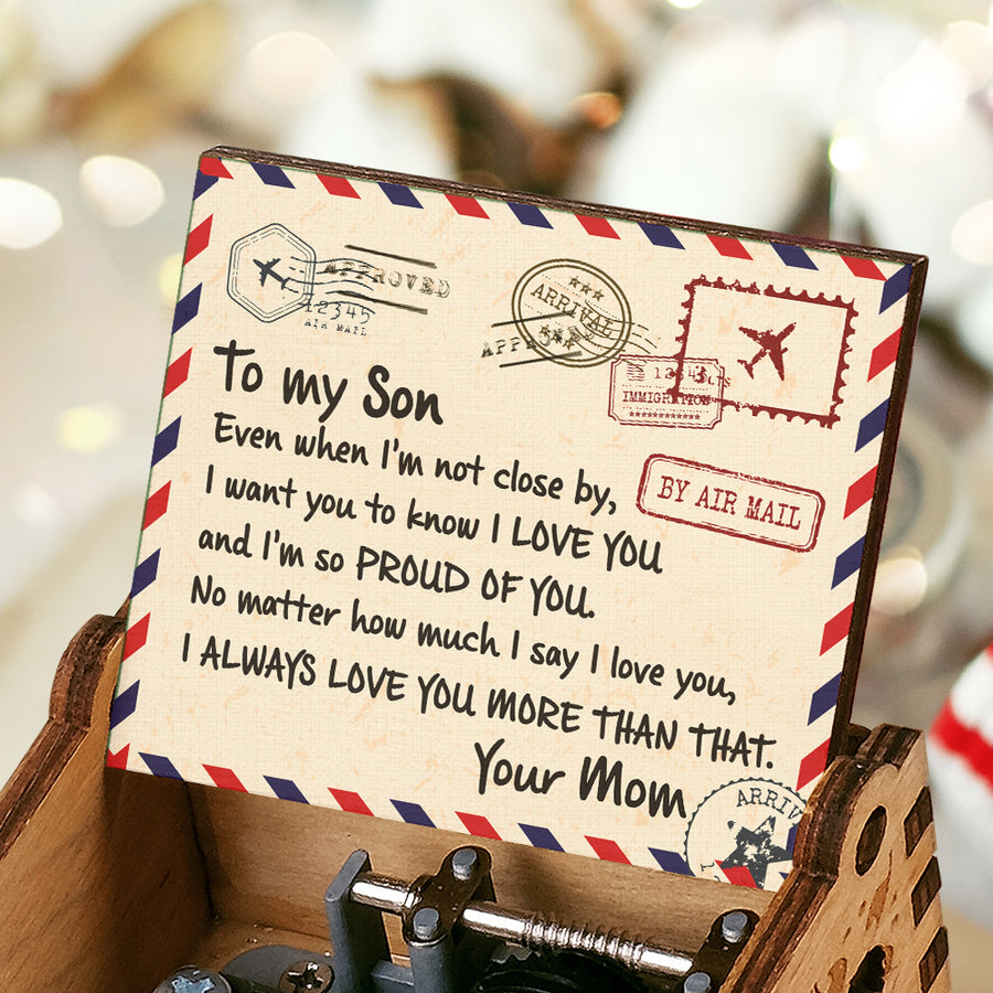 Mom To Son - I'm So Proud Of You - Colorful Music Box