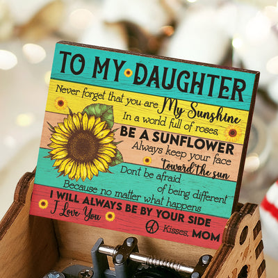 Mom To Daughter - You Are My Sunshine - Colorful Music Box