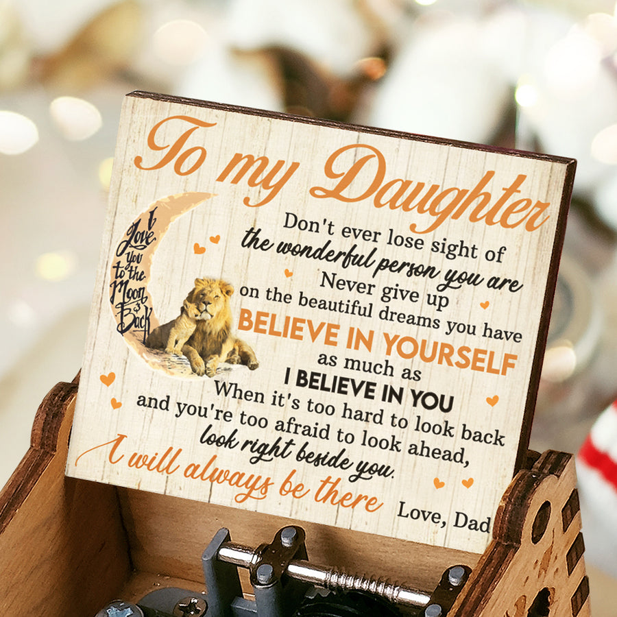 Dad To Daughter - I will always be there - Music Box Color