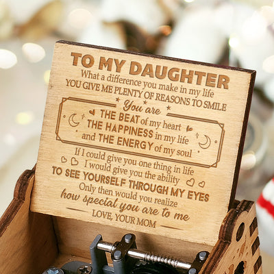Mom to Daughter - You Give Me Plenty Of Reasons To Smile - Engraved Music Box