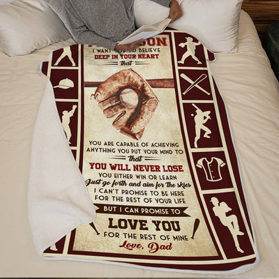 Dad To Son - You Will Never Lose - Blanket