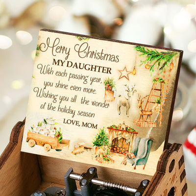 Mom To Daughter - Merry Christmas - Colorful Music Box
