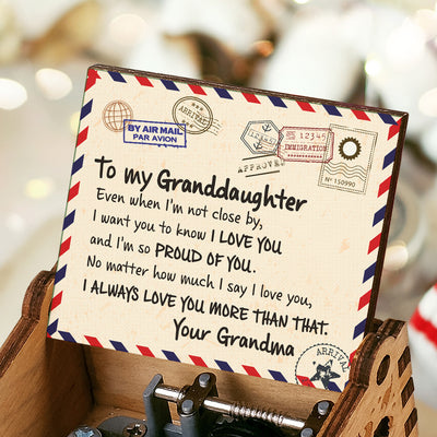 Grandma to Granddaughter - I'm So Proud Of You - Colorful Music Box