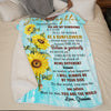 Grandma To Granddaughter - Be A Sunflower - Blanket