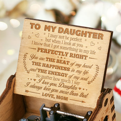 Mom to Daughter - The Energy Of My Soul - Engraved Music Box