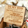 Mom To Son - I pray you'll always be safe - Engraved Music Box