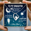 To My Daughter - My Little Girl - Heart Stone Necklace