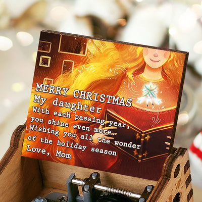 Mom To Daughter - Merry Christmas My daughter - Colorful Music Box