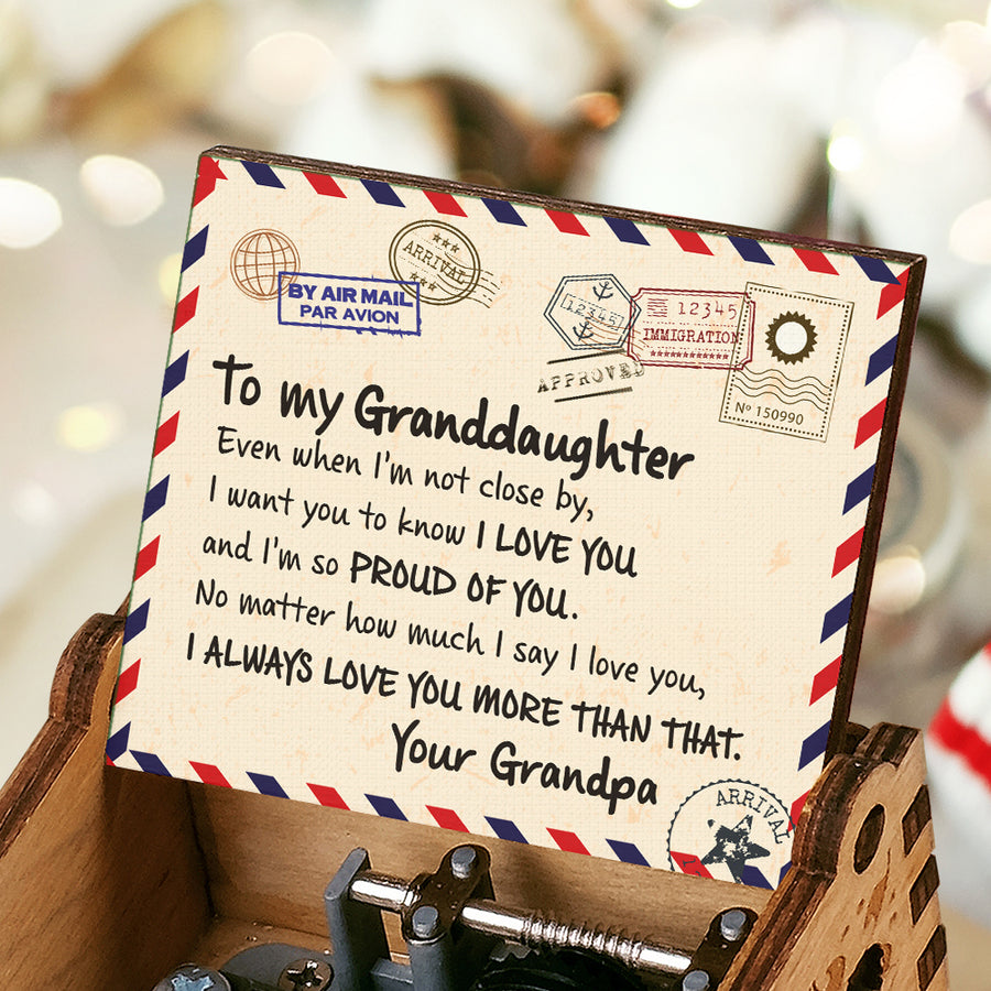 Grandpa to Granddaughter - I'm So Proud Of You - Colorful Music Box