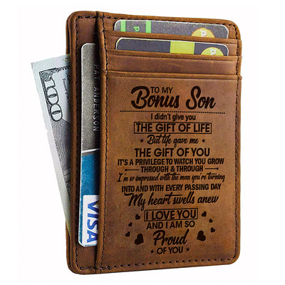 Bonus Son - i Didn't Give You The Gift Of Life - Card Wallet