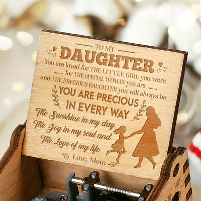 Mom to Daughter - The Sunshine In My Day - Engraved Music Box