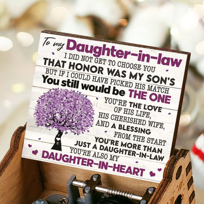 To Daughter-In-Law - that honor was my son's - Music Box Color