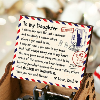 Dad To Daughter - I May Not Carry You Now In My Arm - Music Box Color