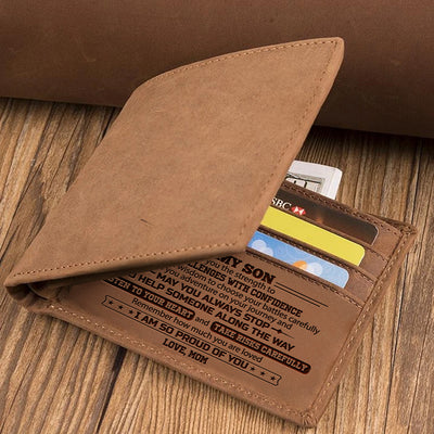 Mom To Son - Listen To Your Heart And Take Risks Carefully - Bifold Wallet