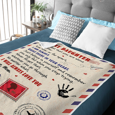 Mom To Daughter - I Will Always Love You - Blanket