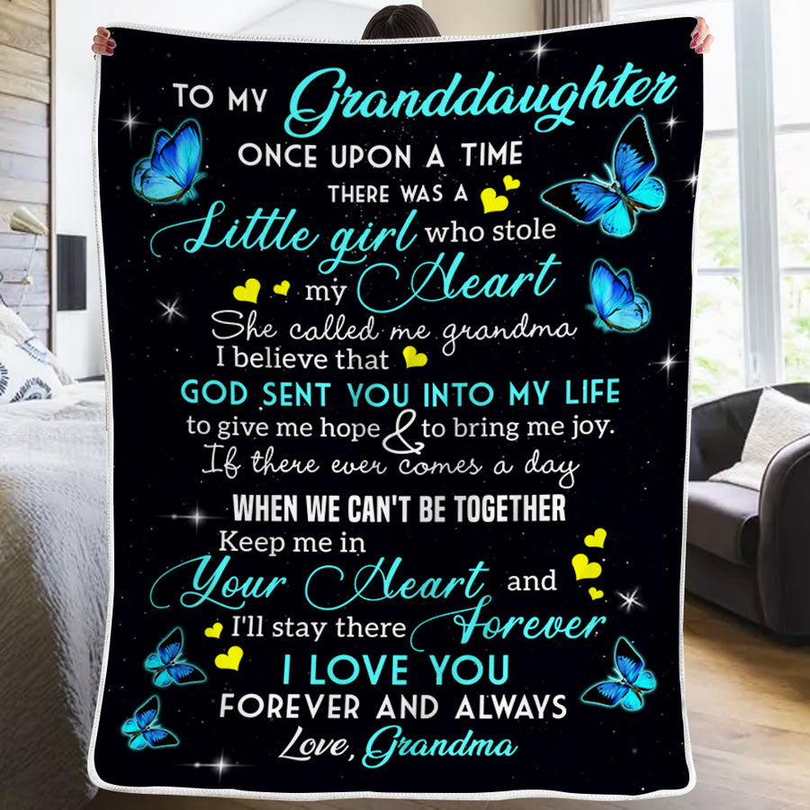 Grandma To Granddaugter - God Sent You Into My Life - Blanket