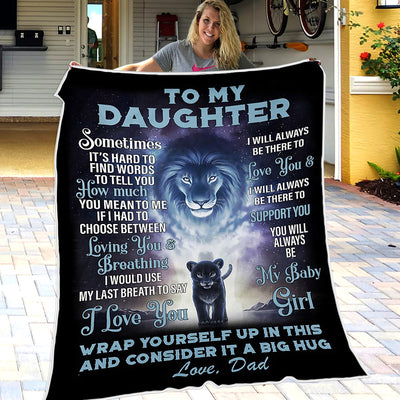 Dad To Daughter - I Love You - Blanket