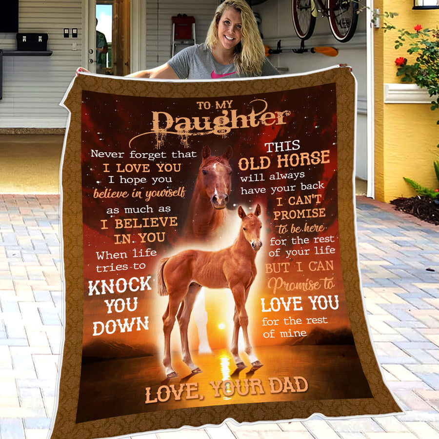 Dad To Daughter - This old horse will always have your back - Gift For Daughter